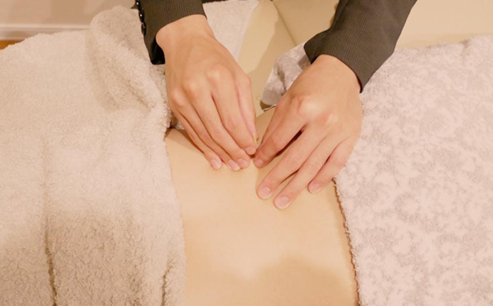 腰痛緩和鍼灸施術